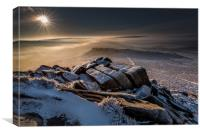 Higger Tor to Carl Wark, Canvas Print