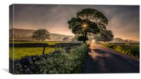 Road to Foolow, Canvas Print