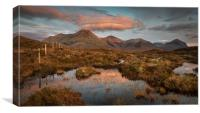The Red Cuillin, Canvas Print
