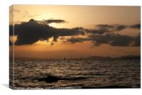 Palma Bay Sunset, Canvas Print