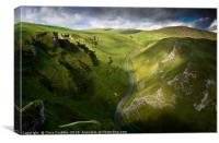 Cloud shadow on Winnats Pass                    , Canvas Print