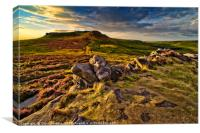 Higger Tor taken from defensive wall of Carl Wark., Canvas Print