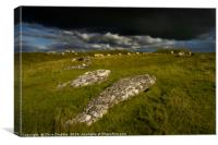 Arbor Low with rain clouds moving throught        , Canvas Print