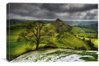 Winter clouds over Parkhouse Hill                 , Canvas Print