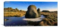 The Moat Stone, Kinder Scout, Canvas Print
