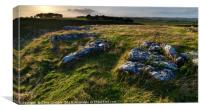 Arbor Low stone circle at Sunset, Derbyshire, Engl, Canvas Print