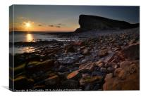 Nash Point at sunset                              , Canvas Print