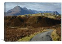 The Road from Glasnakille , Canvas Print