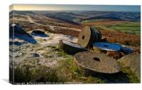 Abandoned Millstones at Stanage Edge, Canvas Print
