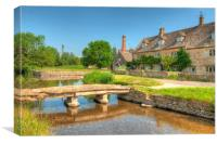 Lower Slaughter , Canvas Print