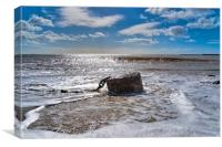 Anchored Down in Lyme Regis, Canvas Print