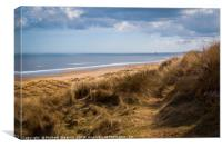 Crimdon Beach, Canvas Print