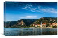Durnstein along the Danube River in the picturesqu, Canvas Print