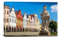 Main square of Telc city, a UNESCO World Heritage , Canvas Print