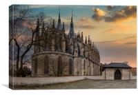 Kutna Hora with Saint Barbara's Church that is a U, Canvas Print
