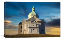 Beautiful and famous St. Sebastian's chapel (Svaty, Canvas Print