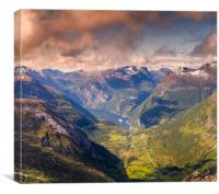The Geiranger fjord , Canvas Print