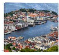 The city of Bergen Norway, Canvas Print
