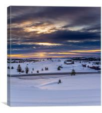 Sunrise in Norway, Canvas Print