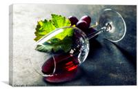 Glass of red wine, Canvas Print