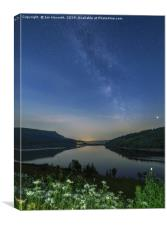 A Summer's Night At Ladybower Reservoir, Canvas Print