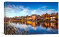 Winter Sunset Over The River Dee Chester, Canvas Print