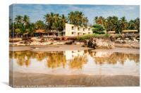Guesthouse on the shore of Arabian Sea in Goa, Canvas Print
