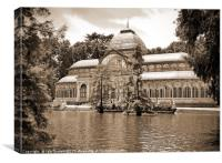 Cristal palace in Madrid, Canvas Print