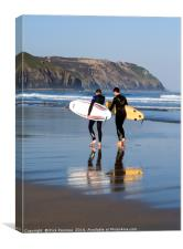 Surf Chat, Canvas Print