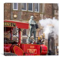 Traction Engine at Trevithick Day Camborne 2016, Canvas Print