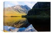 Colours In The Black Loch, Canvas Print