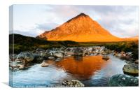 Stob Dearg at Sunrise, Canvas Print