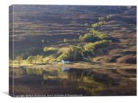The House by Loch Damh, Canvas Print