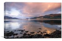 Great Glen Sunset, Canvas Print