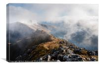 Glen Shiel from The Five Sisters, Canvas Print