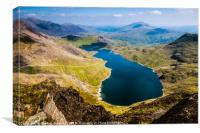 View from Snowdon, Canvas Print