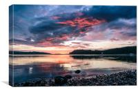 Midsummer Sunset at Poolewe, Canvas Print