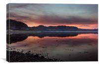 Poolewe Sunset, Canvas Print