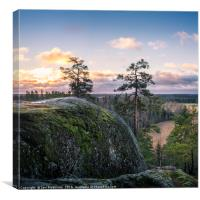 Beautiful morning at top of the hill, Canvas Print