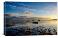 Findhorn Bay Sunset            , Canvas Print