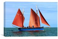 Looe Lugger 'Our Daddy', Canvas Print