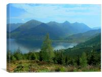 Five Sisters of Kintail, Canvas Print