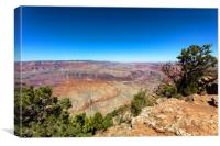 Wide view of the Grand Canyon South Rim in Arizona, Canvas Print