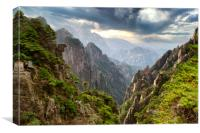 Huangshan or Yellow Mountain in China, Canvas Print