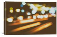City Traffic Lights Background, Canvas Print
