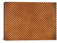 Vintage Natural Brown Leather Texture Background, Canvas Print