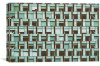 Business Building Windows Abstract Detail, Canvas Print