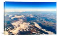 Earth Photo From 10.000m (32.000 feet), Canvas Print