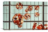 Colored Glass Balloons On Ceiling, Canvas Print