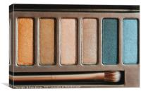 Colorful Eye Shadow Palette Makeup Products, Canvas Print